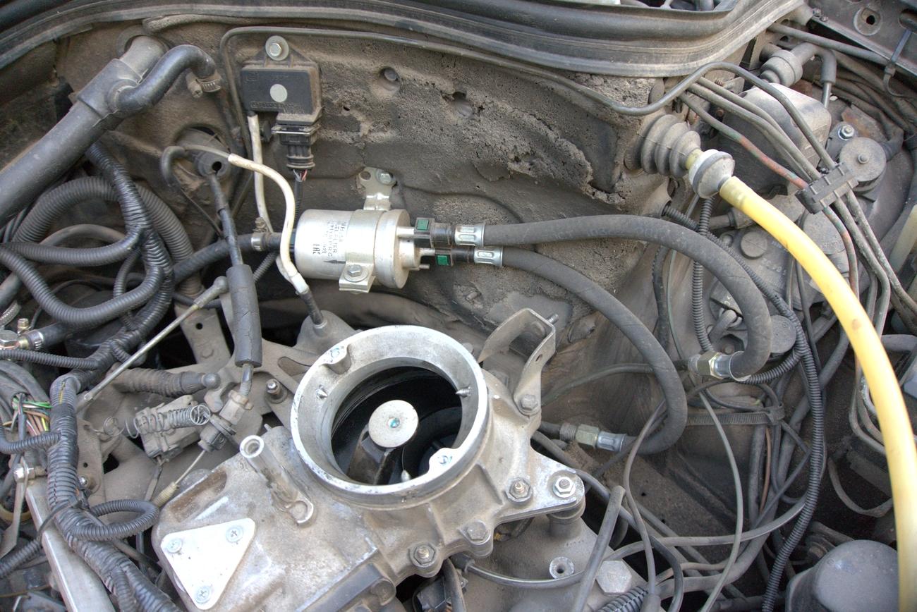 Установка фильтра с РДТ ECar lab на Mercedes 126 M102 M103
