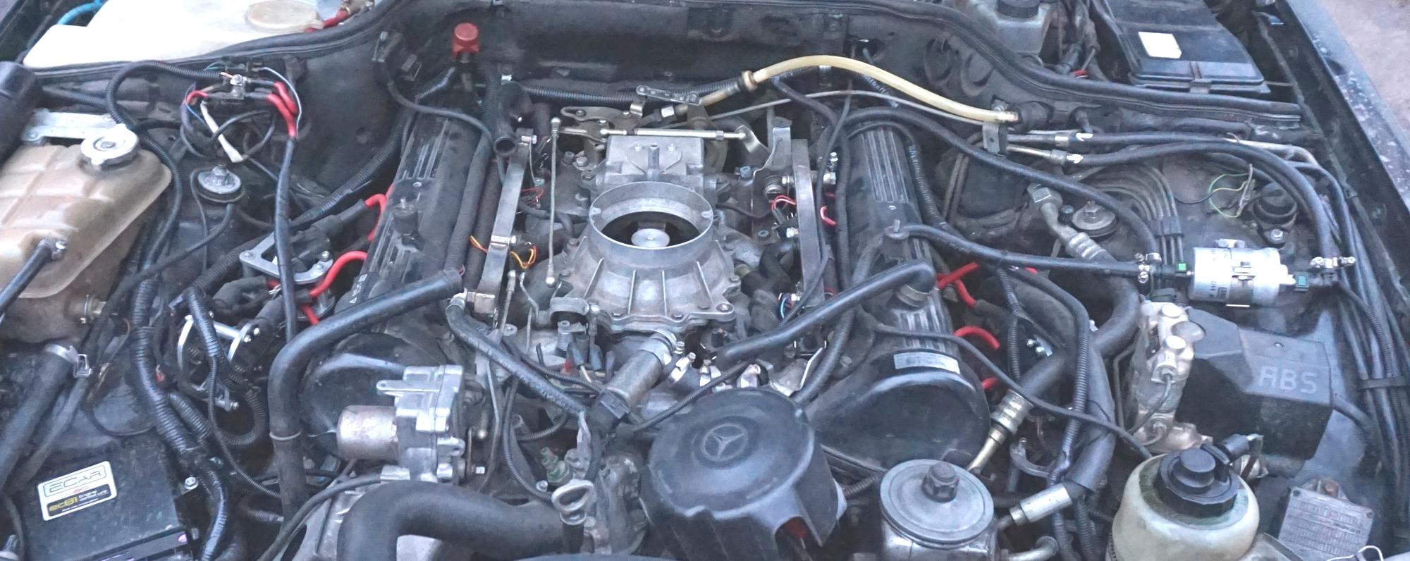 Установка фильтра с РДТ ECar lab на Mercedes 126 M117 5.6